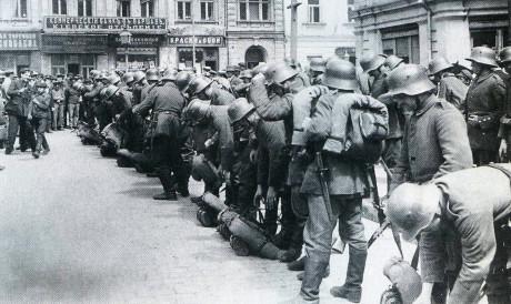 Tyska trupper i Kiev, mars 1918.