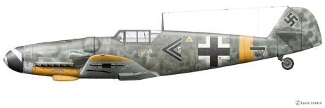 Messerschmitt bf 109, som flög av Barkhorn