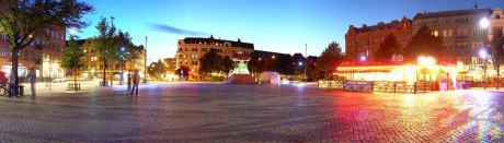 Slagsmålet inträffade i närheten av Möllevångstorget.