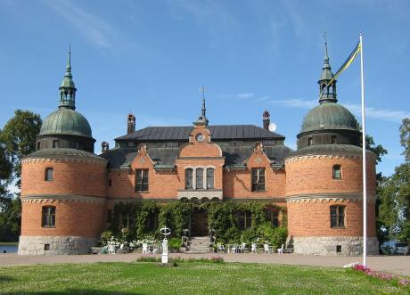 Evert Taube var tillsammans med andra kända svenskar besökare på familjen Rosens slott.