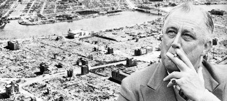 Franklin D. Roosevelt, en odömd krigsförbrytare.