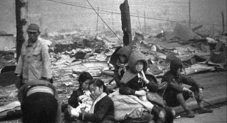 Tokyo-invånare som förlorade sina hem.