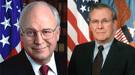 Dick Cheney og Donald Rumsfeld.