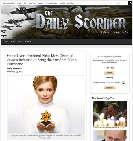 Dailystormer.com rapporterar om situationen i Ukraina.