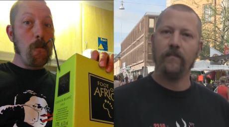 På fredag dricker Henriksson lådvin och hyllar politiskt våld, på lördag går han till fysiskt angrepp mot meningsmotståndare.