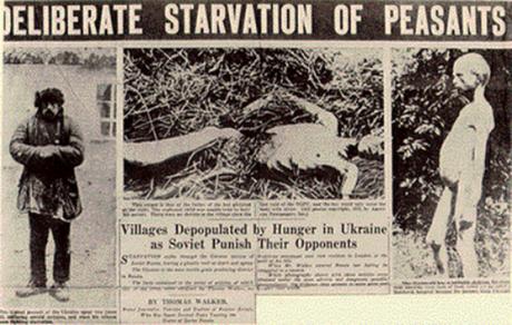 """Den 13 januari 2010 fann en domstol i Kiev postumt juden Lazar Kaganovitj skyldig till folkmord för sin delaktighet i Holodomor, där upp mot 10 miljoner etniska ukrainare svalt ihjäl. Mer information om Holodomor finns på <a href=""""http://holodomorinfo.com/"""">Holodomorinfo.com</a>."""