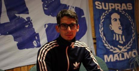 Showan Shattak får stöd på Facebook av gruppen Ultras Malmö.