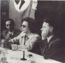 Joseph Goebbels (t.v.) och Zarah Leander.