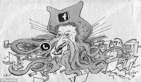 mark zuckerberg bläckfisk näsa