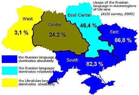 Karta över Rysslands geopolitik.