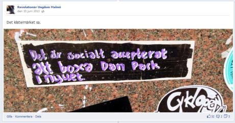 Dan Park är gatukonstnären från Malmö som blivit anmäld för hets mot folkgrupp ett flertal gånger på grund av sin kontroversiella gatukonst.