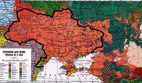 Karta över Ukrainas geopolitik.