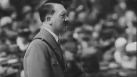Hitlers första tal i filmen