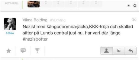 UV-ledarens twitter som ledde till att 20 anti-rasister överföll två 15-åringar.