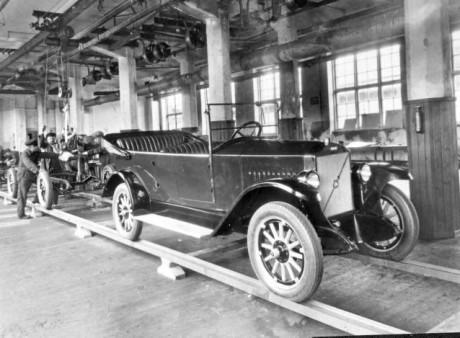 """Tillverkning av """"Jakob"""" i Volvofabriken på Hisingen."""