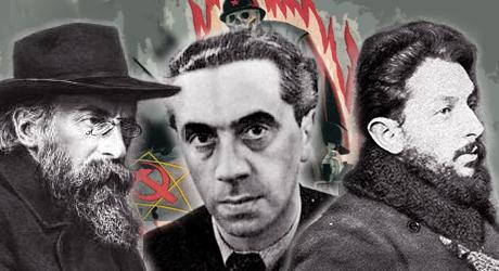 Kurt Eisner, Ernst Toller och Eugen Leviné - ledare för Bayerska Sovjetrepubliken.
