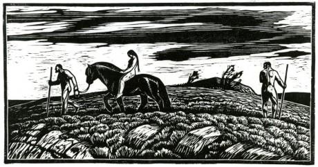 Träsnitt av Gustav Vigeland.