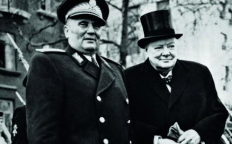 Josip Broz Tito och Winston Churchill.