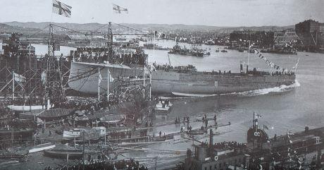 Sjösättningen den 3 maj 1915