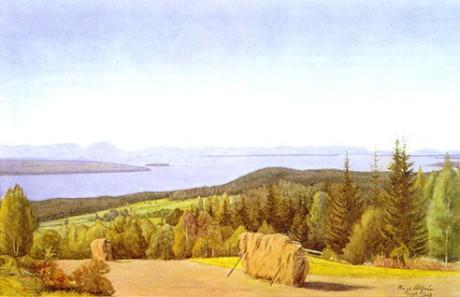 Utsikt över Siljan 1925.