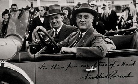 President Roosevelt med finansminister.