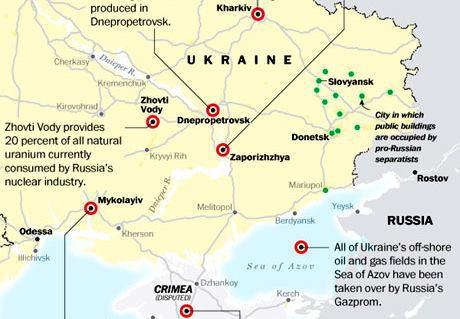 Ryska intressen i Ukraina: Bilden visar på en militärteknologisk verklighet långt bortom den politiska retorikens snäva ramar. Klicka för större bild.