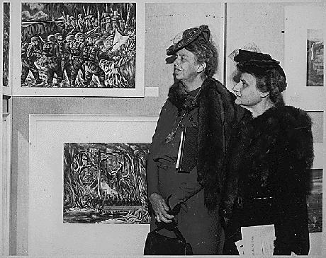 Presidentfrun Eleanor och Elenor Morgenthau i Washington DC.