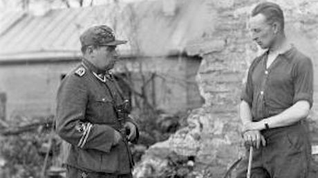 Paul Maitla vid striderna i Estland