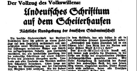 Völkischer Beobachter den 12 maj 1933.