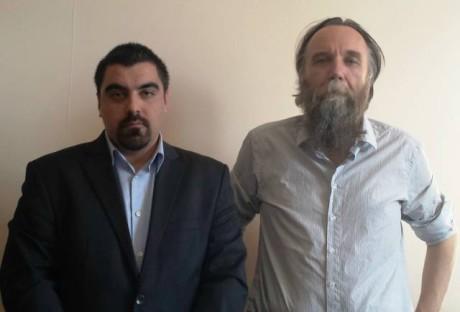 Artemis Mattheopoulos och Alexander Dugin.