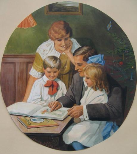 Akvarellmålning av Jenny Nyström.