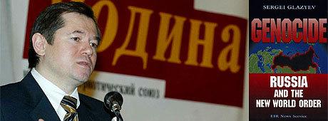 """Den ryske nationalisten Dr. Sergey Glazyev är författare till boken """"Genocide: Russia and the New World Order""""."""