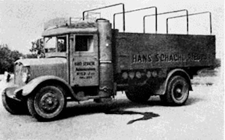 """""""Gasvagnen"""" Saurer av modell 5 BHw (diseldriven)"""