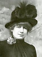 Jenny Nyström - självporträtt.