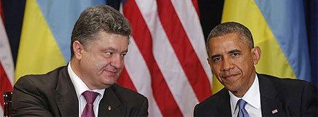 Judiske Porosjenko och afro-amerikanske Obama bestämmer över Ukraina.