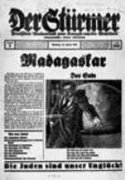 """Den nationalsocialistiska tidningen """"Der Stürmer"""" hade en specialutgåva om Madagaskarplanen redan 1938."""