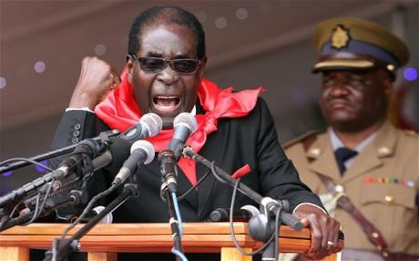 Vita ska fördrivas enligt Mugabe.