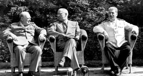 Deltagare under konferensen var bland andra Winston Churchill, Harry S. Truman och Josef Stalin.