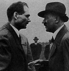 Hess och Hitler 1924.