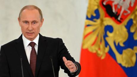 Vladimir Putin, Rysslands president.