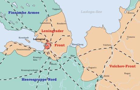 Leningrad inringat