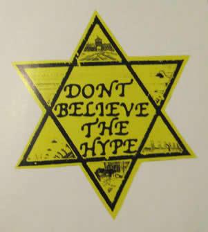 """""""Don' belive the Hype"""", ett av Dan Parks konstverk."""