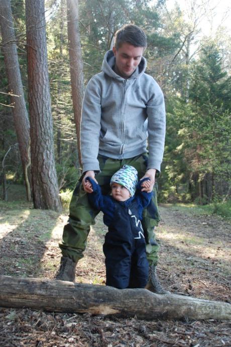 Joakim Blixt med son.