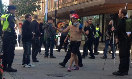 Sundsvalls manlige Femen-aktivist.