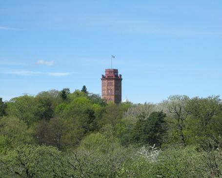 Utkikstornet Bredablick. Tornet stod färdigt 1876 och kallades då Belvederen Westemansberg.