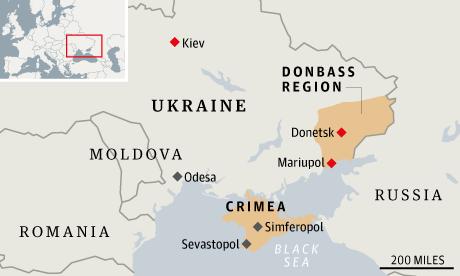 I Ukraina har områden brutit sig ur efter Euromaidan förra året.