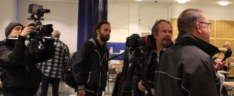 Journalister från Nordfront, Expo, DT m.fl. medier var på plats.