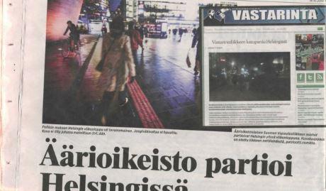 Den massmediala responsen på Finska motståndsrörelsens patrullerande har varit stor.