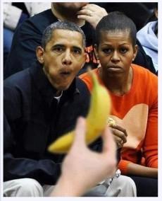 """Barack Obama är en """"vårdslös apa"""" enligt Nordkorea."""