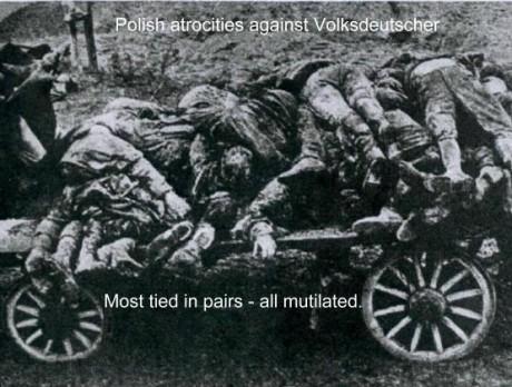 Brombergmassakern i Polen skedde med stöd från polska regeringen och med  brittiska och franska garantier att skydda landet från tyska motreaktioner. Tusentals etniska tyskar blev bortförda, misshandlade och mördade på de mest ohyggliga sätt.